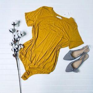 Elodie Mustard Yellow TShirt Bodysuit
